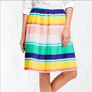 Merona Multicolor Accordion Pleat Plus Skirt XXL